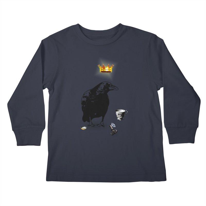 He's A Self-Made Man Kids Longsleeve T-Shirt by Little Miss Tyne's Artist Shop