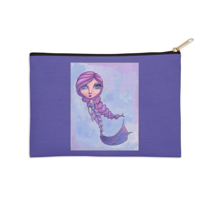 Winter Mermaid Cutie Accessories Zip Pouch by Little Miss Tyne's Artist Shop