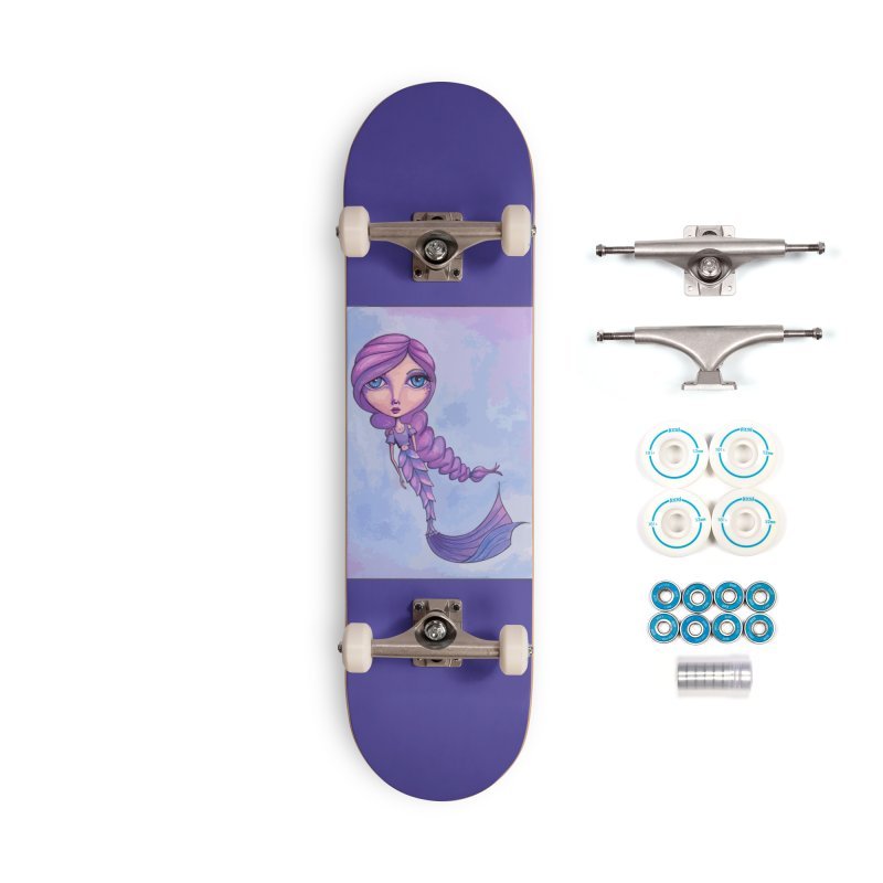 Winter Mermaid Cutie Accessories Skateboard by Little Miss Tyne's Artist Shop