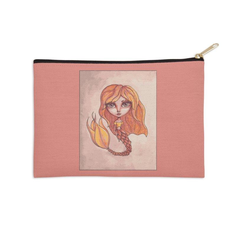 Autumn Mermaid Cutie Accessories Zip Pouch by Little Miss Tyne's Artist Shop