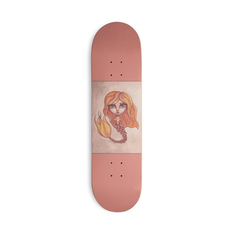 Autumn Mermaid Cutie Accessories Skateboard by Little Miss Tyne's Artist Shop