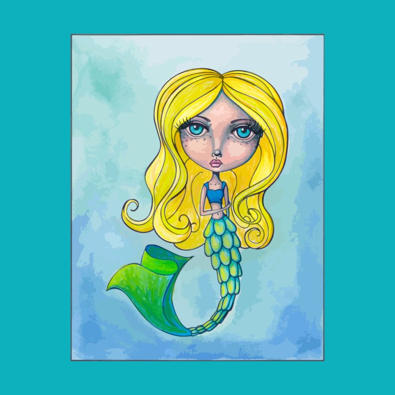 Summer Mermaid Cutie Accessories Skateboard by Little Miss Tyne's Artist Shop