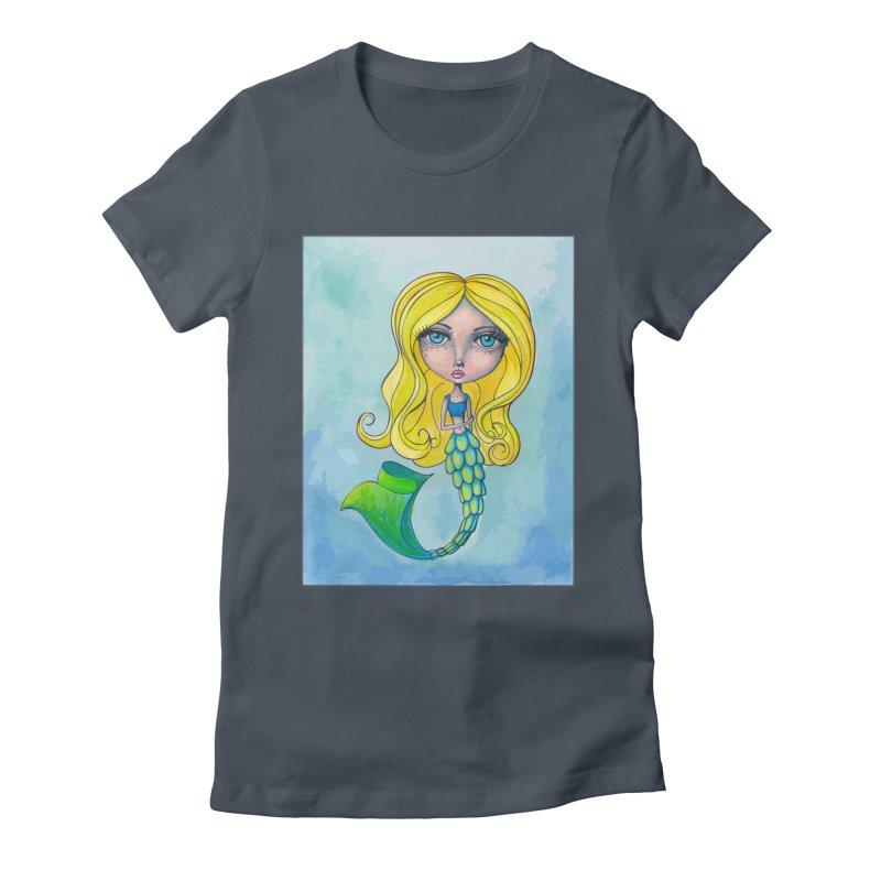 Summer Mermaid Cutie Women's T-Shirt by Little Miss Tyne's Artist Shop