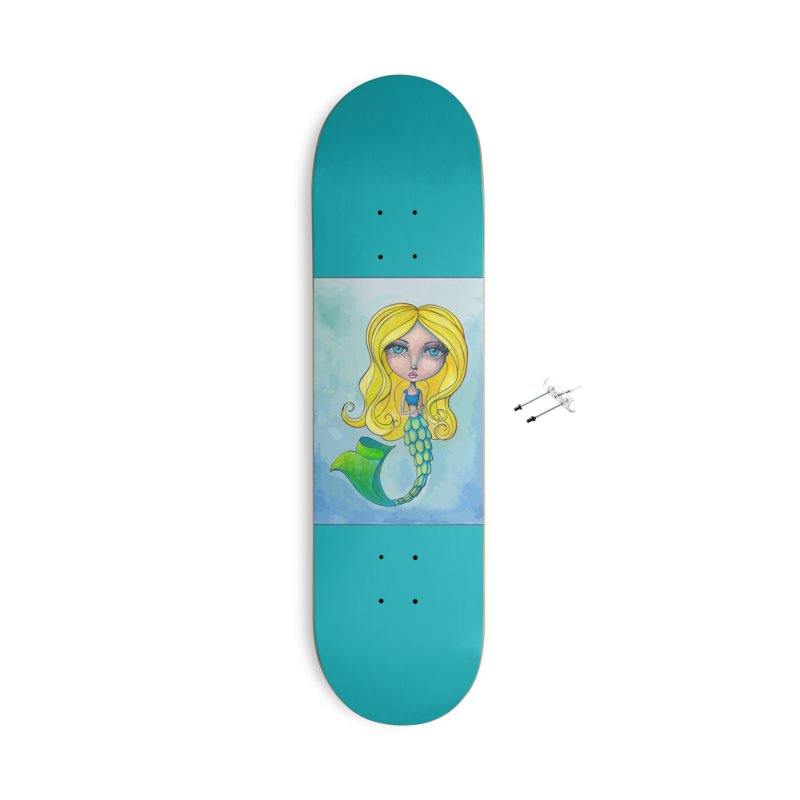 Summer Mermaid Cutie Accessories Skateboard by Little Miss Tyne's Artist Shop