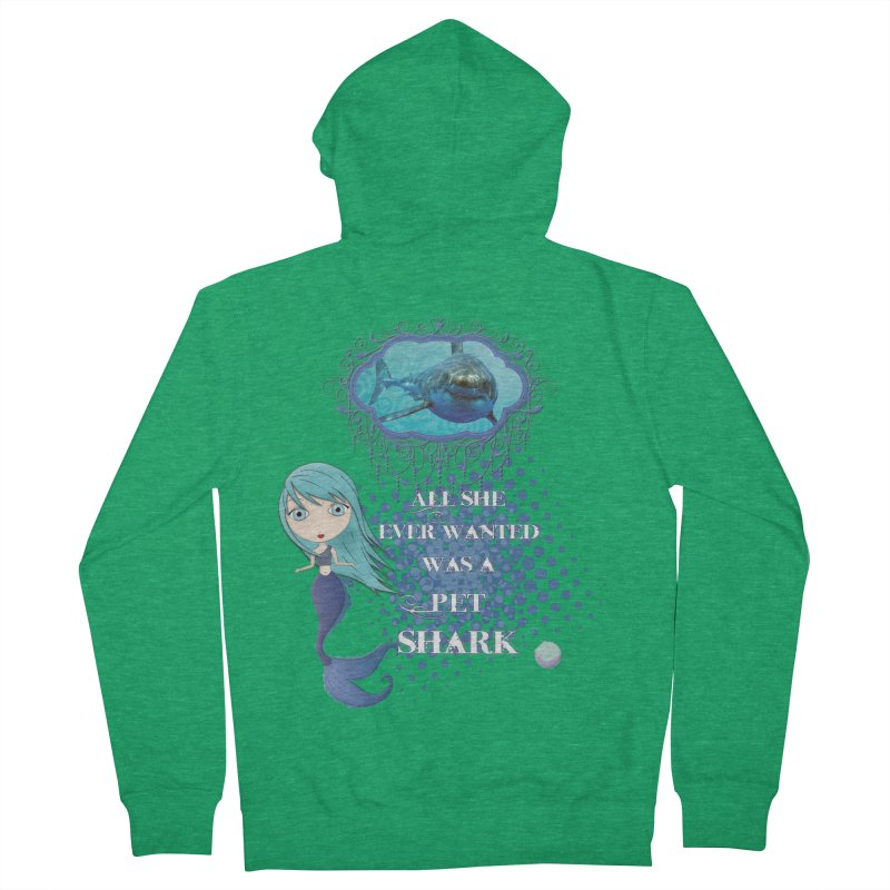 All She Ever Wanted Was A Pet Shark Men's Zip-Up Hoody by LittleMissTyne's Artist Shop