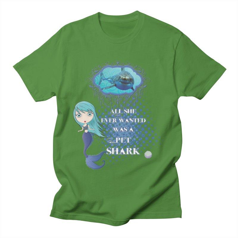 All She Ever Wanted Was A Pet Shark Men's Regular T-Shirt by LittleMissTyne's Artist Shop
