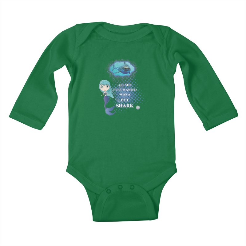All She Ever Wanted Was A Pet Shark Kids Baby Longsleeve Bodysuit by LittleMissTyne's Artist Shop