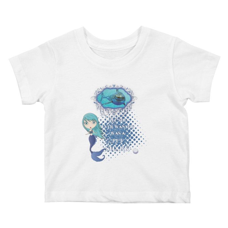 All She Ever Wanted Was A Pet Shark Kids Baby T-Shirt by LittleMissTyne's Artist Shop