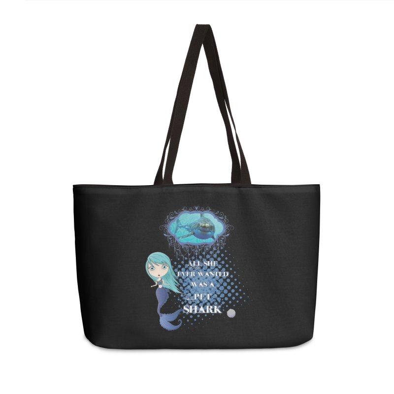 All She Ever Wanted Was A Pet Shark Accessories Weekender Bag Bag by LittleMissTyne's Artist Shop