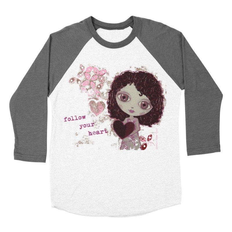 Follow Your Heart Men's Baseball Triblend Longsleeve T-Shirt by LittleMissTyne's Artist Shop
