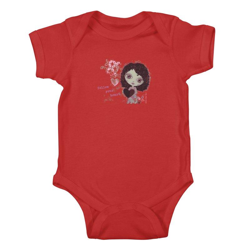 Follow Your Heart Kids Baby Bodysuit by LittleMissTyne's Artist Shop