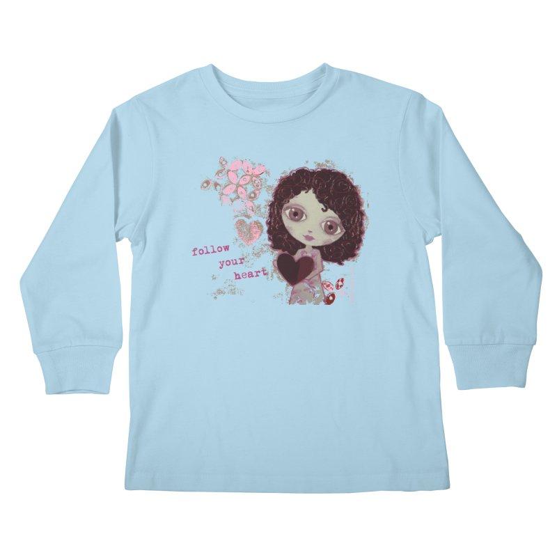 Follow Your Heart Kids Longsleeve T-Shirt by LittleMissTyne's Artist Shop