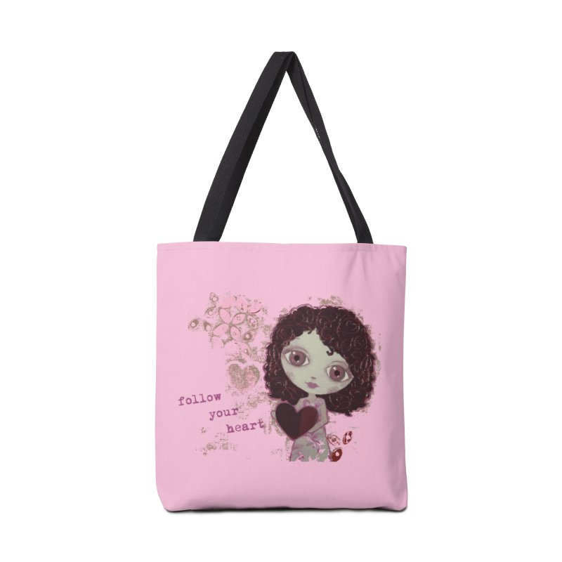 Follow Your Heart Accessories Tote Bag Bag by LittleMissTyne's Artist Shop