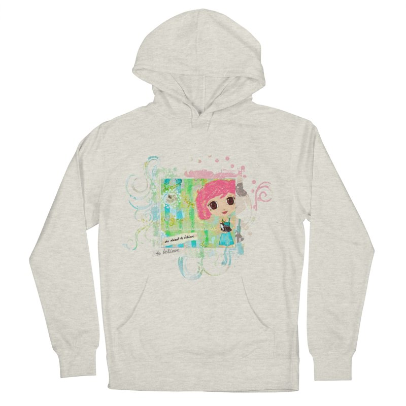 She Dared To Believe Men's French Terry Pullover Hoody by LittleMissTyne's Artist Shop
