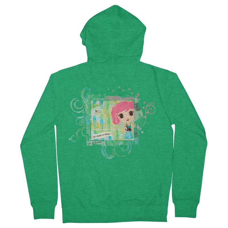 She Dared To Believe Women's French Terry Zip-Up Hoody by LittleMissTyne's Artist Shop