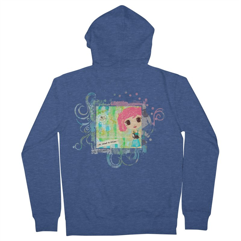 She Dared To Believe Men's French Terry Zip-Up Hoody by LittleMissTyne's Artist Shop