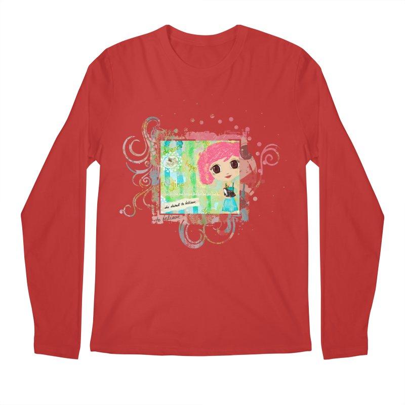 She Dared To Believe Men's Regular Longsleeve T-Shirt by LittleMissTyne's Artist Shop