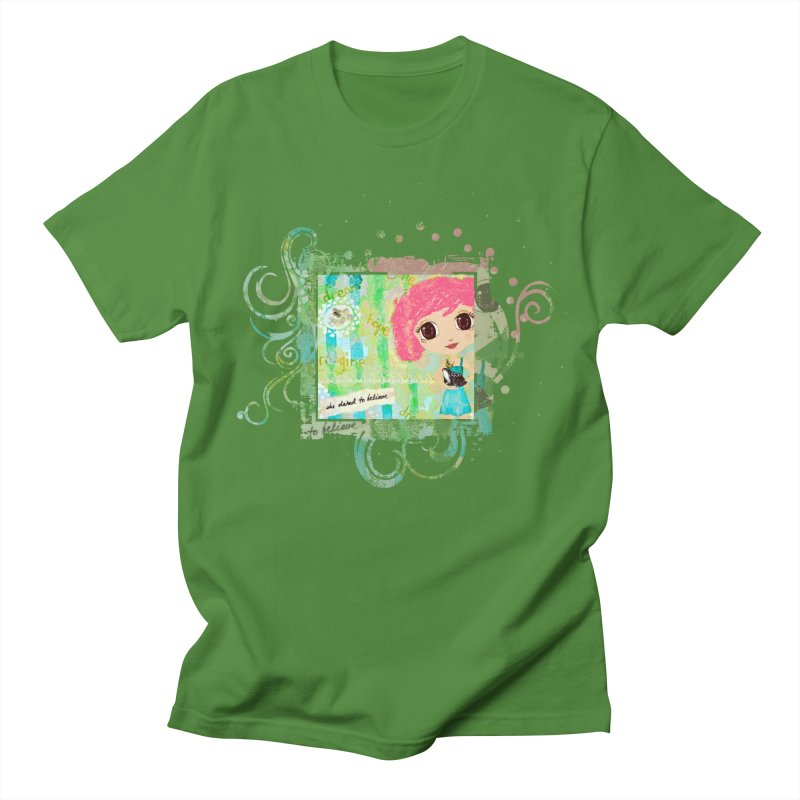She Dared To Believe Men's T-Shirt by LittleMissTyne's Artist Shop