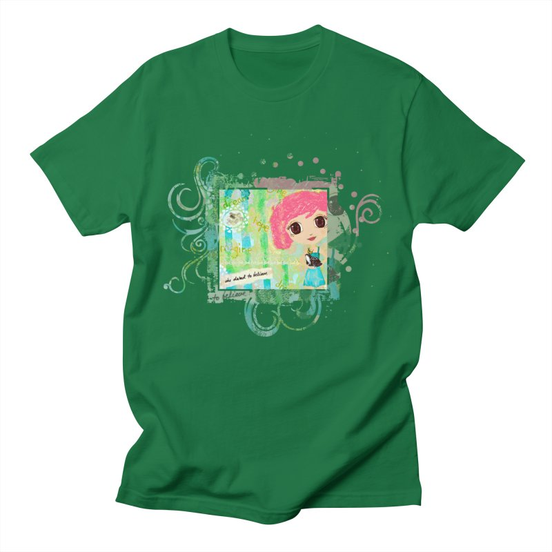 She Dared To Believe Men's Regular T-Shirt by LittleMissTyne's Artist Shop