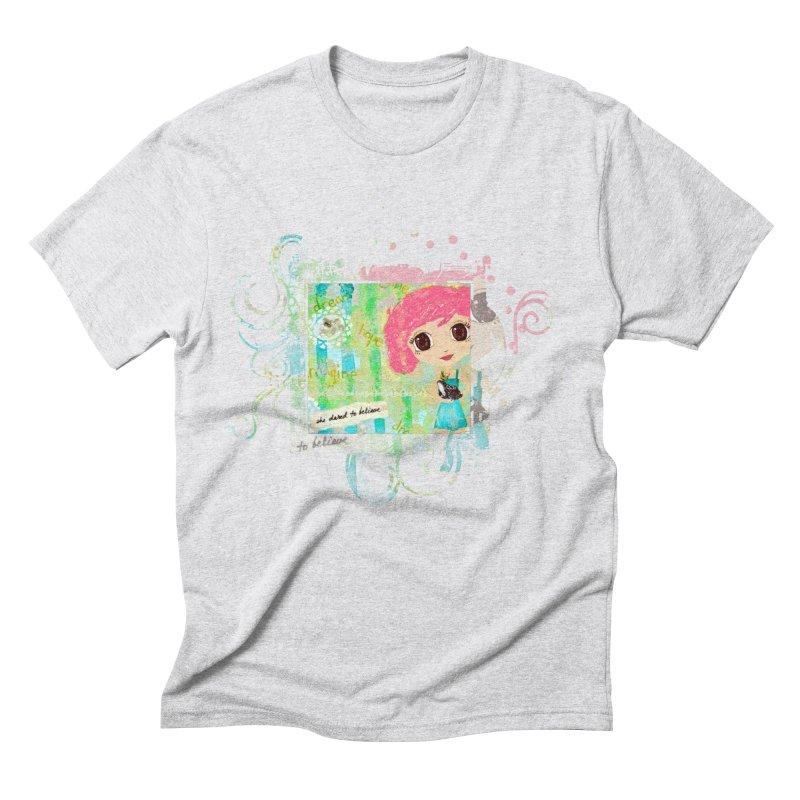 She Dared To Believe Men's Triblend T-Shirt by LittleMissTyne's Artist Shop