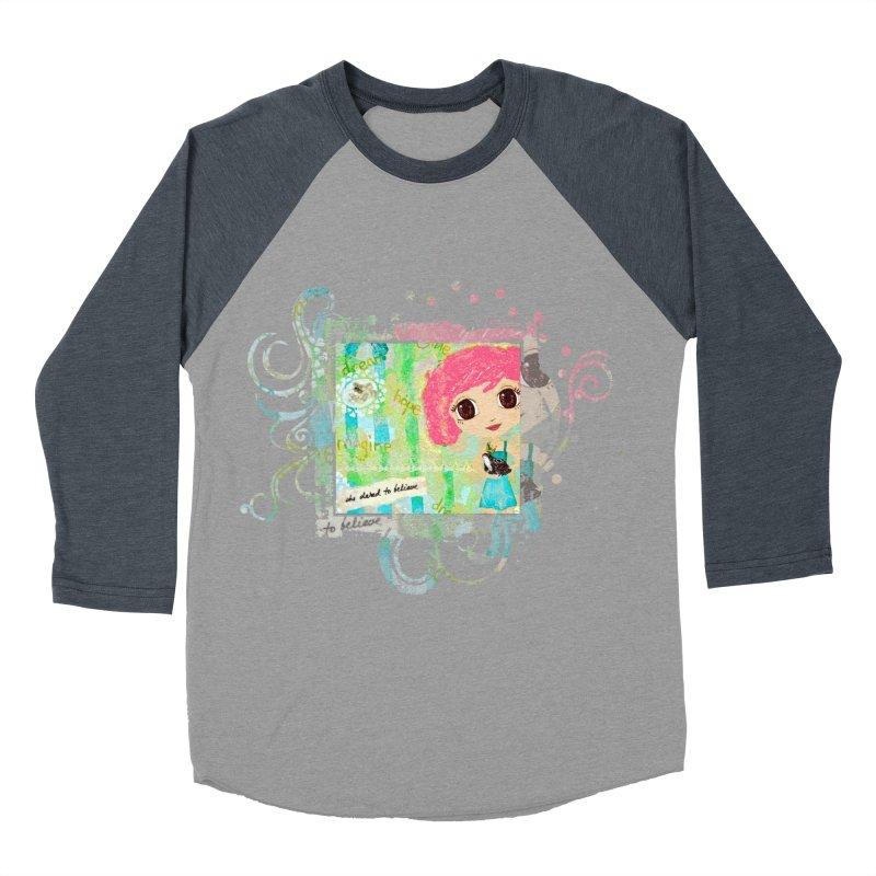 She Dared To Believe Women's Baseball Triblend Longsleeve T-Shirt by LittleMissTyne's Artist Shop