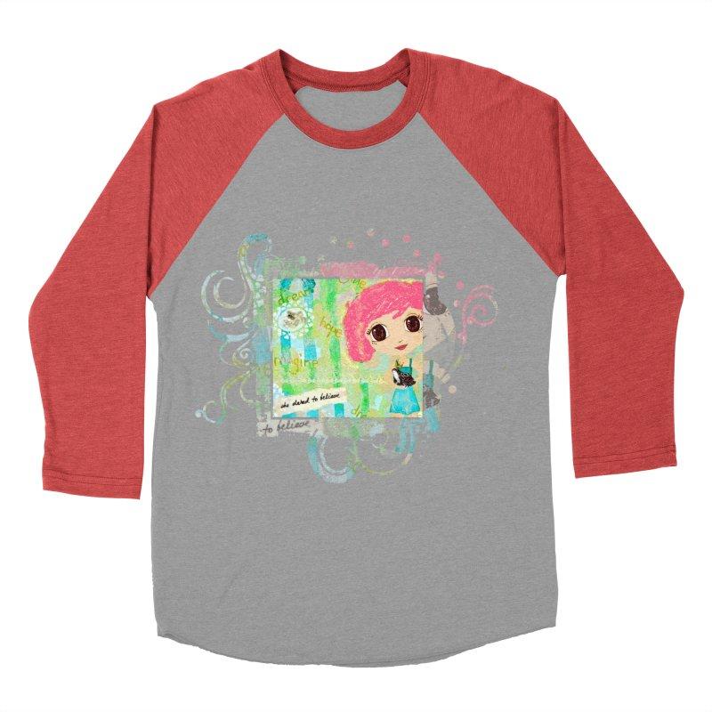 She Dared To Believe Men's Longsleeve T-Shirt by LittleMissTyne's Artist Shop