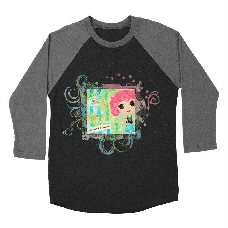 She Dared To Believe Men's Baseball Triblend Longsleeve T-Shirt by LittleMissTyne's Artist Shop