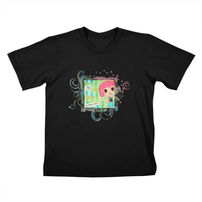 She Dared To Believe Kids T-Shirt by LittleMissTyne's Artist Shop