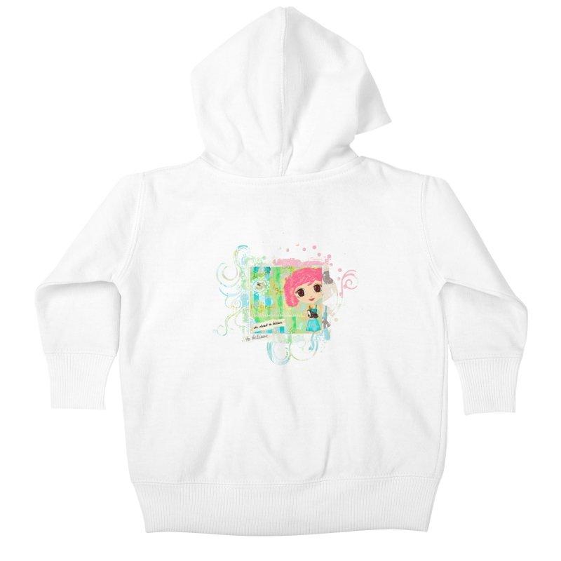 She Dared To Believe Kids Baby Zip-Up Hoody by LittleMissTyne's Artist Shop