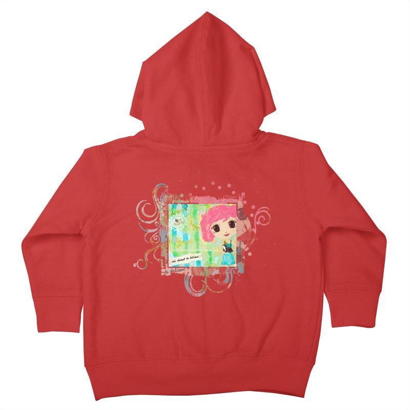 She Dared To Believe Kids Toddler Zip-Up Hoody by LittleMissTyne's Artist Shop