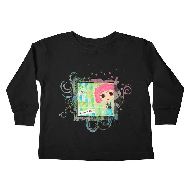 She Dared To Believe Kids Toddler Longsleeve T-Shirt by LittleMissTyne's Artist Shop