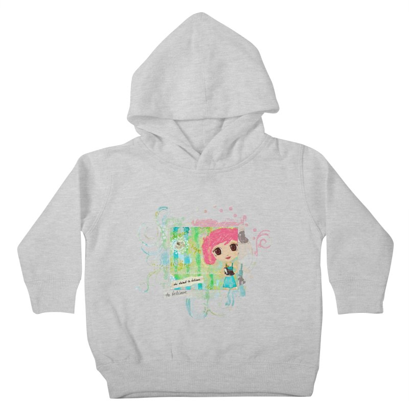 She Dared To Believe Kids Toddler Pullover Hoody by LittleMissTyne's Artist Shop