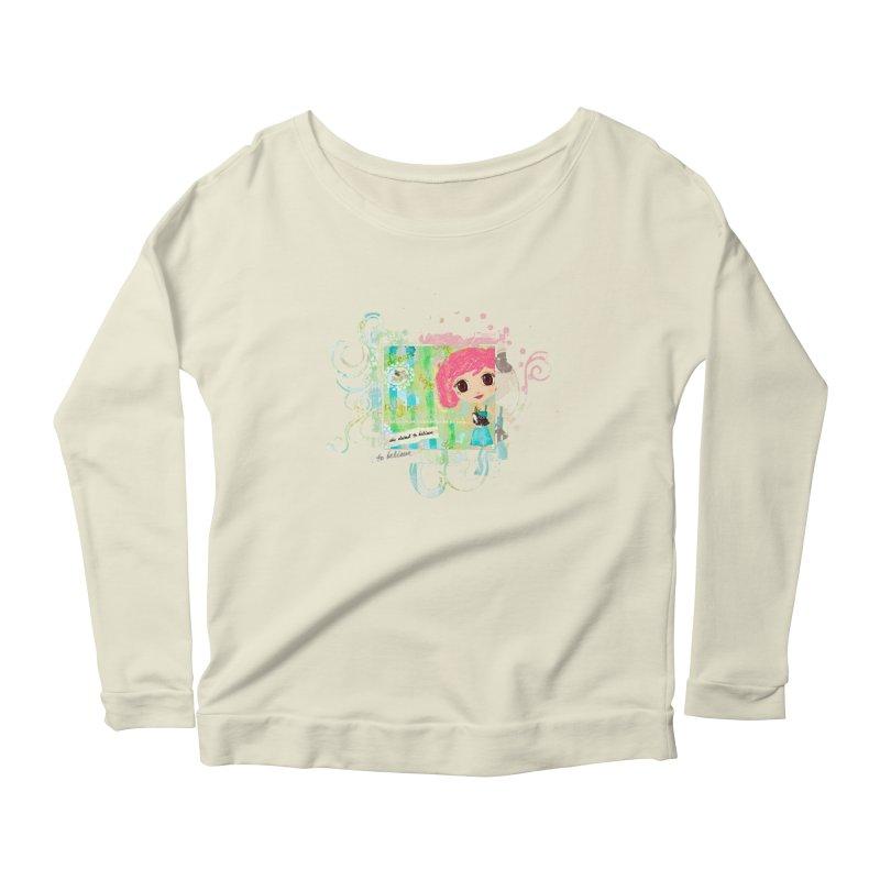 She Dared To Believe Women's Scoop Neck Longsleeve T-Shirt by LittleMissTyne's Artist Shop