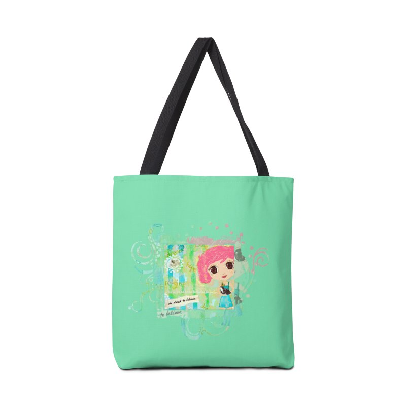 She Dared To Believe Accessories Tote Bag Bag by LittleMissTyne's Artist Shop
