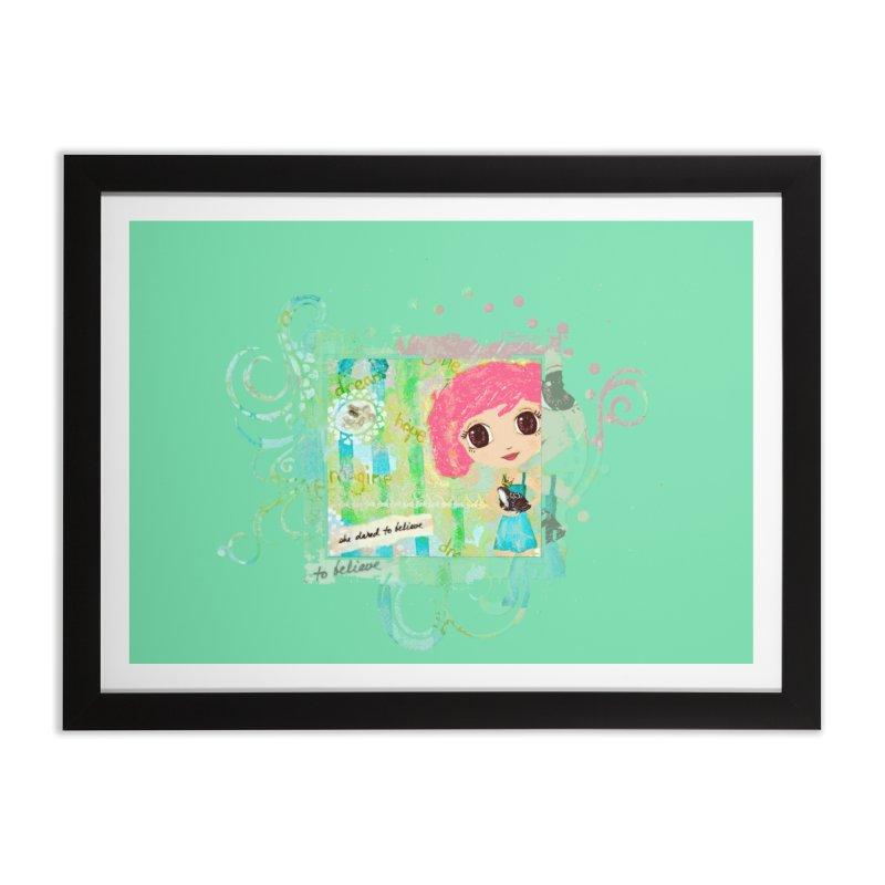 She Dared To Believe Home Framed Fine Art Print by LittleMissTyne's Artist Shop