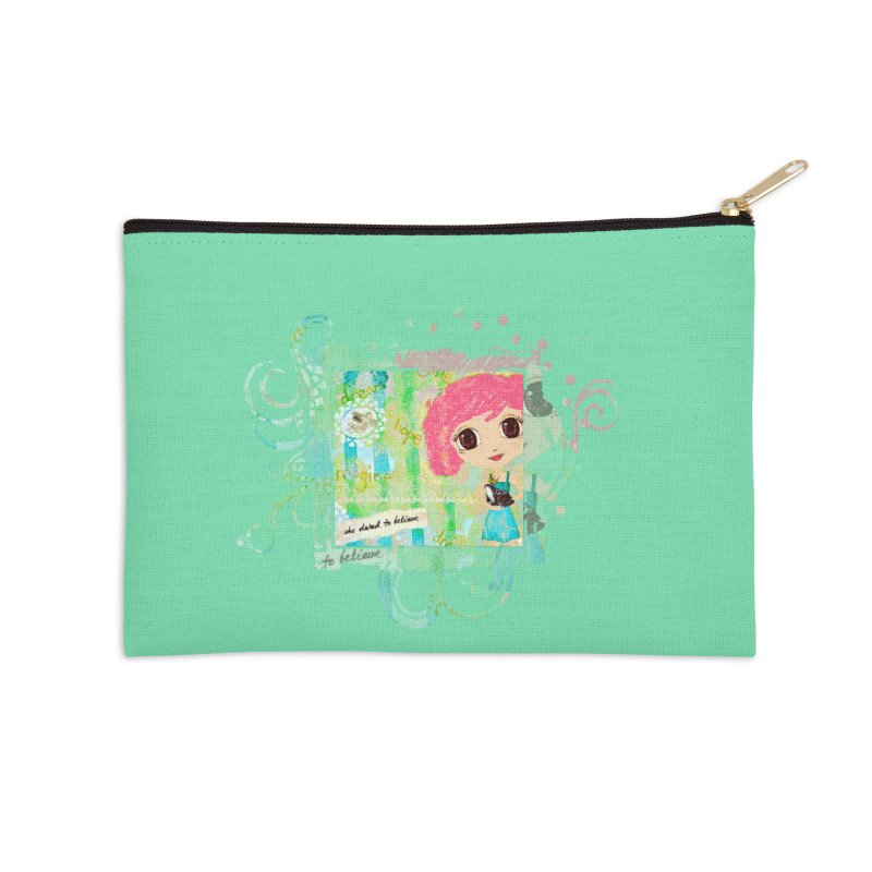 She Dared To Believe Accessories Zip Pouch by LittleMissTyne's Artist Shop