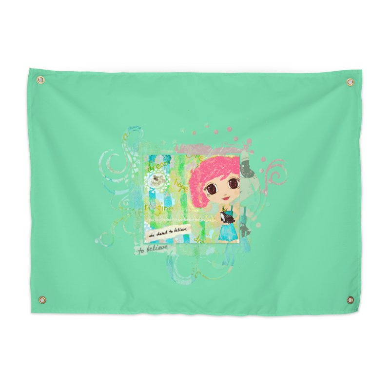 She Dared To Believe Home Tapestry by LittleMissTyne's Artist Shop