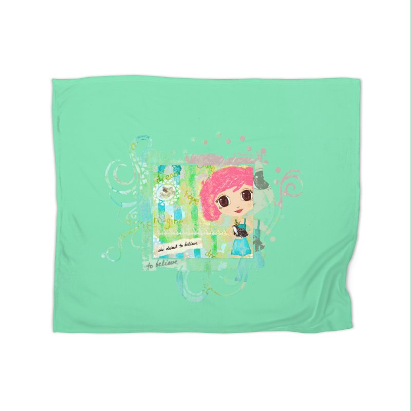 She Dared To Believe Home Fleece Blanket Blanket by LittleMissTyne's Artist Shop