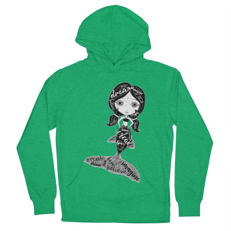 Believe In The Reality Of Your Dreams Men's French Terry Pullover Hoody by LittleMissTyne's Artist Shop