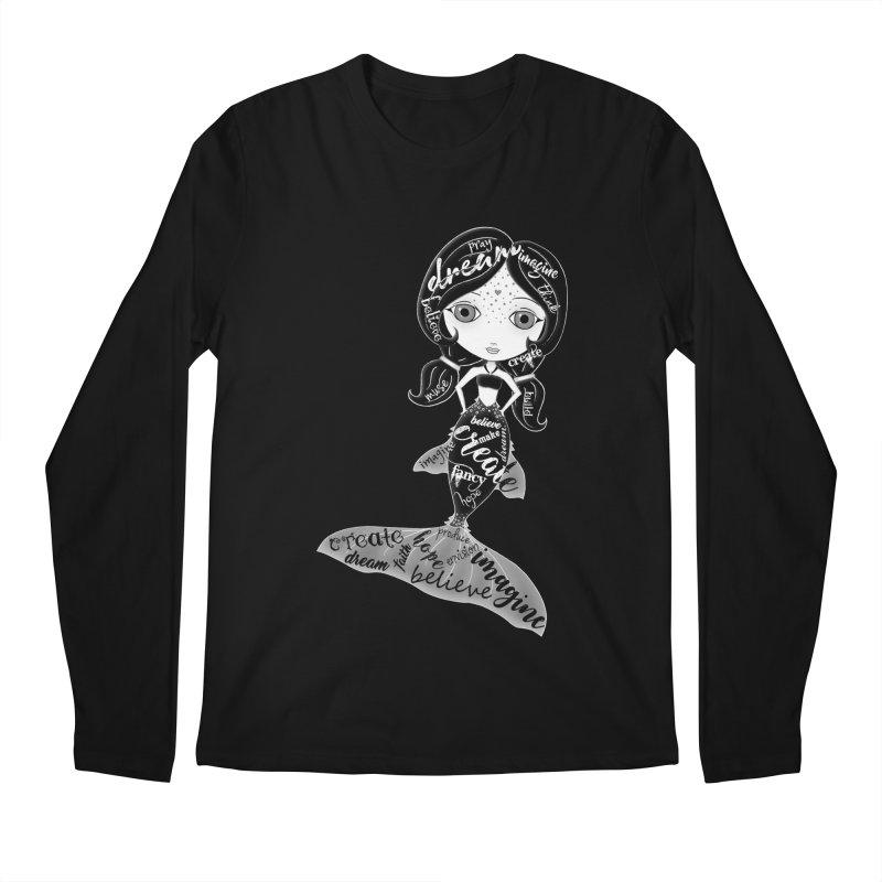 Believe In The Reality Of Your Dreams Men's Regular Longsleeve T-Shirt by LittleMissTyne's Artist Shop