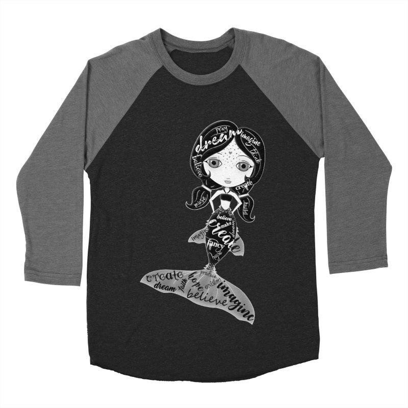 Believe In The Reality Of Your Dreams Women's Baseball Triblend Longsleeve T-Shirt by LittleMissTyne's Artist Shop