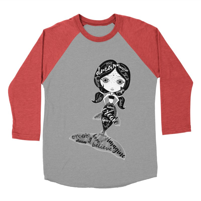 Believe In The Reality Of Your Dreams Men's Baseball Triblend Longsleeve T-Shirt by LittleMissTyne's Artist Shop