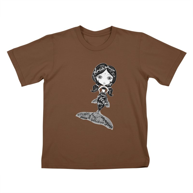 Believe In The Reality Of Your Dreams Kids T-Shirt by LittleMissTyne's Artist Shop
