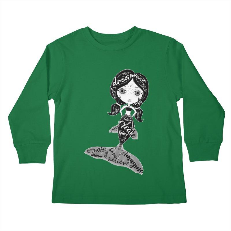 Believe In The Reality Of Your Dreams Kids Longsleeve T-Shirt by LittleMissTyne's Artist Shop