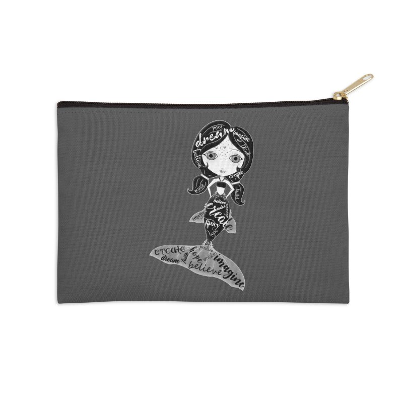 Believe In The Reality Of Your Dreams Accessories Zip Pouch by Little Miss Tyne's Artist Shop