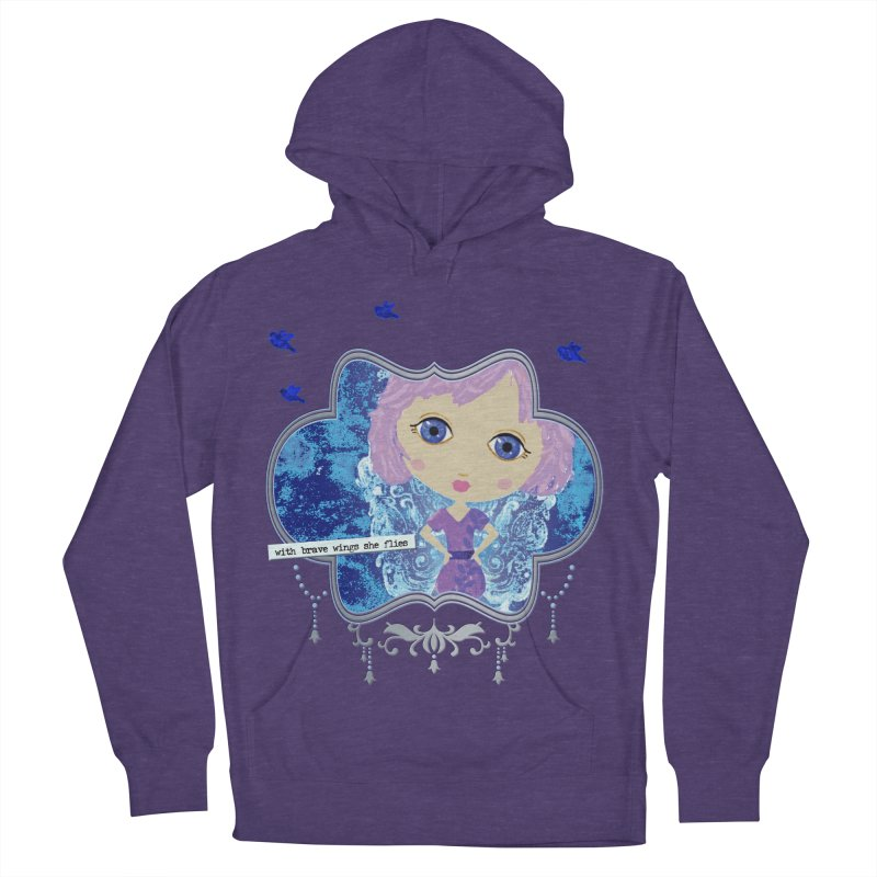With Brave Wings She Flies Women's French Terry Pullover Hoody by LittleMissTyne's Artist Shop