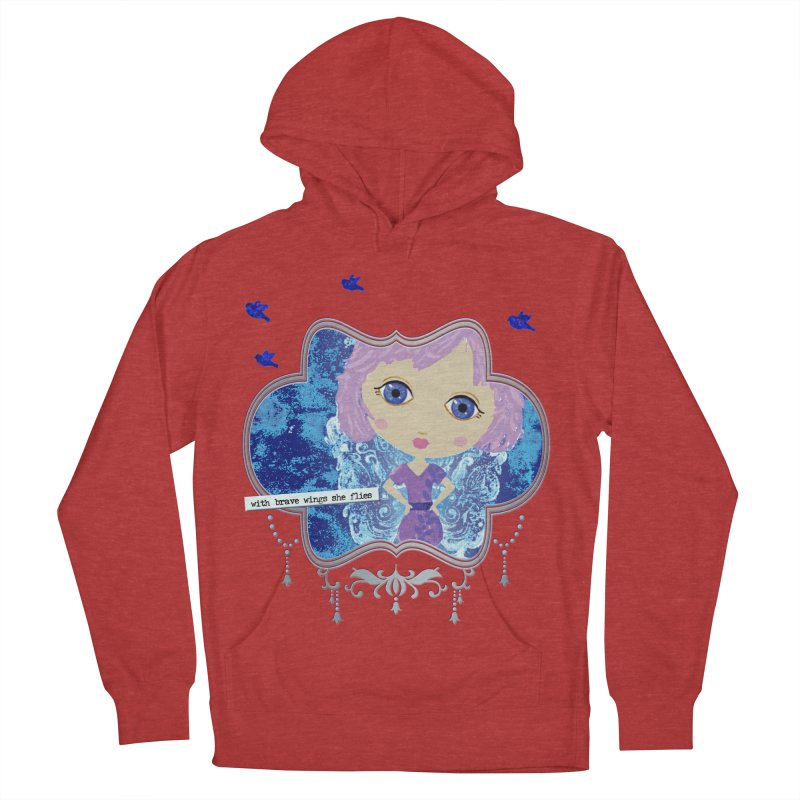 With Brave Wings She Flies Men's French Terry Pullover Hoody by LittleMissTyne's Artist Shop