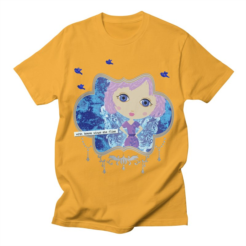 With Brave Wings She Flies Men's T-Shirt by LittleMissTyne's Artist Shop