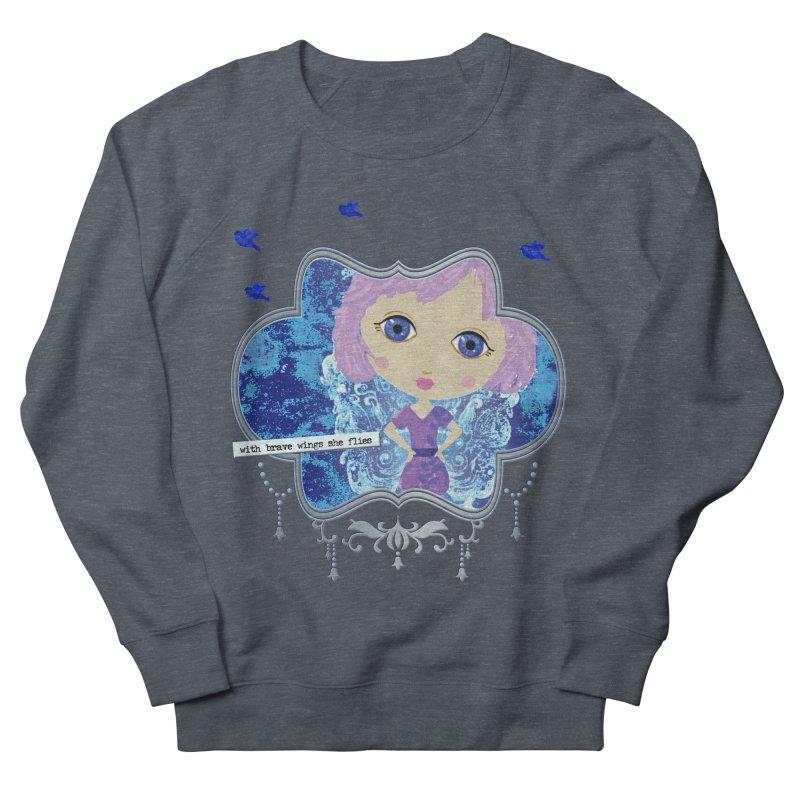 With Brave Wings She Flies Men's Sweatshirt by LittleMissTyne's Artist Shop