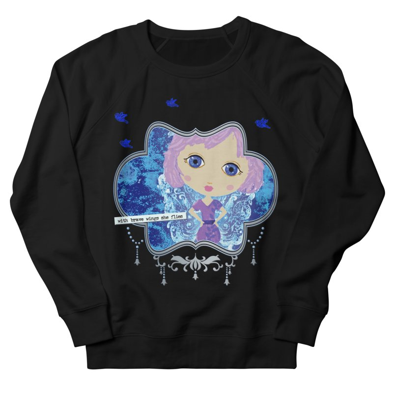 With Brave Wings She Flies Men's French Terry Sweatshirt by LittleMissTyne's Artist Shop